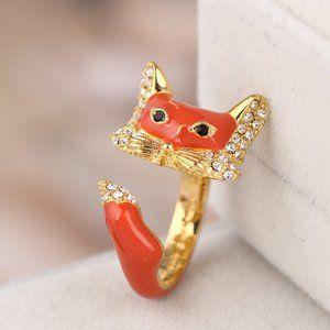 🎁NWT Kate Spade Orange Fox Open Ring